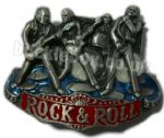 ROCK & ROLL BAND Belt Buckle + display stand
